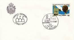 B02  Enveloppe FDC De San Marino - Du 29-08-1987 - FDC