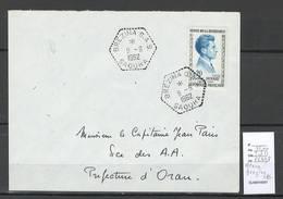 Algerie - Lettre  - Cachet Hexagonal BREZINA SAS -  Marcophilie - Algérie (1924-1962)