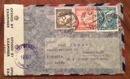 POSTA AEREA PAR  AVION  CHILE  GERMANY NORTH BRIT.ZONE   FROM CONCEPCIÓN TO  DUSSELDORF   THE  5/2/47   CENSURATA - Cile