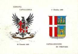 [MD2779] GENOVA CAVALLERIA - CAVALLEGGERI DI TREVISO - CON ANNULLI - Non Viaggiata - Reggimenti