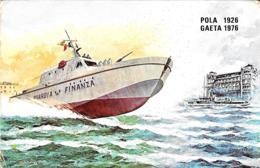 [MD2782] GUARDIA DI FINANZA MOTOVEDETTA 50° ANN. FONDAZIONE SCUOLA NAUTICA POLA1926 GAETA 1976 - Non Viaggiata - Barche