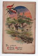 DIE EROBERTE FESSTUNG GRODNO / HRODNA AM MJEMEN  - JULI 1915 - CARTE GAUFREE (TENIR A LA LUMIERE) - Wit-Rusland