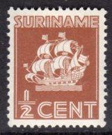 SURINAM - 1936 DEFINITIVE 1/2c SHIP STAMP FINE MINT MM * SG236 - Surinam