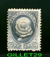 STAMPS - 1870 U.S. Scott #134 One Cent Franklin Stamp Used - Cork Cancel - - Oblitérés