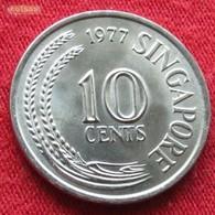 Singapore 10 Cents 1977 KM# 3 Singapour Singapura - Singapour