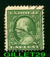STAMPS - Scott 279 US Deep Green Ben Franklin Used Cancelled 1c One Cent Postage Stamp - Etats-Unis