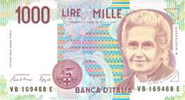 1000 Lire Italien 1990 - [ 2] 1946-… Republik