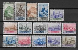 SAINT MARIN - YVERT 320/333 (SAUF 329A) * MLH - COTE = 250 EUROS - Saint-Marin