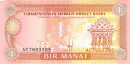 1 Manat Turkmenistan 1993 - Turkménistan