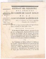 LETTRE 27 04.1794 COMITE  DE SALUT PUBLIC RATION PAIN ET VIANDE DES TROUPES  LOI10 - Documents Historiques