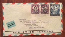 POSTA AEREA PAR  AVION   PANAGRA  CHILE  ARGENTINA  FROM SANTIAGO   TO BUENOS AIRES   THE 1937 - Cile