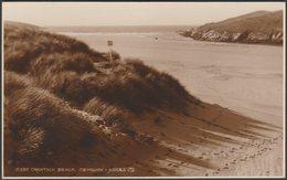 Crantock Beach, Newquay, Cornwall, C.1930s - Judges RP Postcard - Newquay
