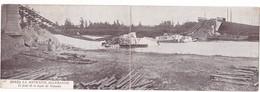 CPA 02 @ Le PONT De La LIGNE De SOISSONS (AISNE) Saboté Après La Retraite Allemande - Voyagée En Avril 1915 Par Un Poilu - Soissons