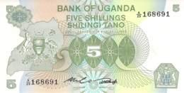 5 Schillings 1982 Uganda - Uganda