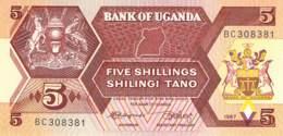 5 Schillings 1987 Uganda - Uganda