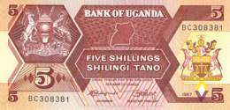 5 Schillings 1987 Uganda - Ouganda