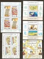 Chypre Turc Turks Cyprus CEPT Europa Yvertn° Bloc 3,4,5,8,et 10 *** MNH Cote 86,50 Euro - Neufs