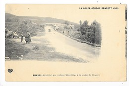 COUPE GORDON BENNETT  (cpa 63) 1905 - BRAUN (autriche) Sur Voiture Mercédès à La Sortie Du Cratère    -  L 1 - France