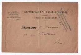 ENVELOPPE EXPOSITION UNIVERSELLE DE 1900 / CONGRES INTERNATIONAUX Du MINISTERE DU COMMERCE, DE L'INDUSTRIE DES PTT - Storia Postale
