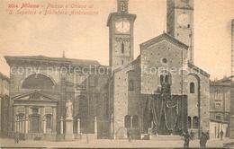 73374808 Milano_Marittima Piazza Chiesa Di San Sepolcro Biblioteca Ambrosiana Mi - Unclassified