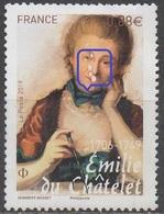 FRANCE 2019__N° EMILIE Du CHATELET__ NSG  VOIR SCAN__Variété Larmes Sur Le Visage - Used Stamps