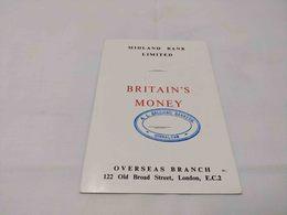 ANTIQUE BROCHURE / BOOKLET CATALOG BRITAIN'S MONEY  - MIDLAND BANK LIMITED GIBRALTAR  1953 - Livres & Logiciels