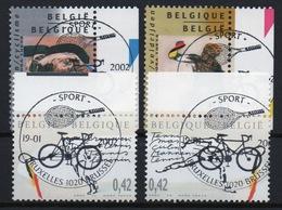 BELGIE: COB 3052/3055 Eerste Dag Afstempeling. - Gebraucht