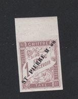Faux Timbre De Saint-Pierre Et Miquelon TAXE N° 8 1 F Duval Gomme Sans Charnière - Timbres-taxe