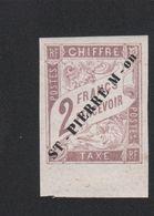 Faux Timbre De Saint-Pierre Et Miquelon TAXE N° 9 2 F Duval Gomme Sans Charnière - Timbres-taxe