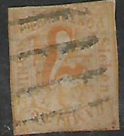 Gernany, Hamburg, 1859, 7 Sch, Orange, Used - Hamburg