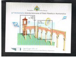 SAN MARINO - UNIF. BF 113 FOGLIETTO - 2011 AZIENDA AUTONOMA FILATELICA NUMISMATICA      - NUOVO ** - Blocks & Kleinbögen