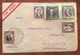 POSTA AEREA PAR  AVION    CHILE  GERMANY  FROM VALPARAISO  TO HAMBURG  THE  23/3/32 - Cile