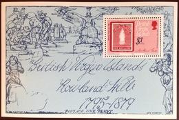 Virgin Islands 1979 Rowland Hill Minisheet MNH - Iles Vièrges Britanniques