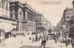 13 / MARSEILLE / LA CANNEBIERE VUE QUAI FRATERNITE - Marsiglia