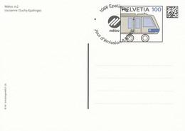 SWITZERLAND Stamped Stationery 47,trains - Trains