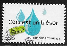 TIMBRE ADHESIF N° 187  -   EAU DURABLE    -  OBLITERE  -  -2008 - Francia