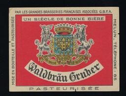 """étiquette Bière France: Waldbräu Gruber Un Siècle De Bonne Bière  """"GBFA"""" Melun 77 - Bière"""