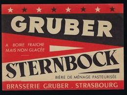 étiquette Bière France:  Gruber Sternbock Brasserie Gruber Strasbourg - Bier
