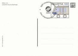 SWITZERLAND Stamped Stationery 50,trains - Trains