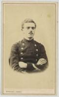 CDV Militaire Circa 1870 Rideau à Cherbourg . Infanterie De Marine . - Photos