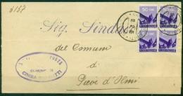 V9798 ITALIA REPUBBLICA 1946 Piego Amministrativo  Affrancato Con Democratica 50 C. X 4, Da Cingia De Botti (CR) - 6. 1946-.. Repubblica