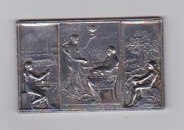 Plaquemédaille Bronze Argentée Charles Christofle 1842 à 1892  Poids 155,01gr Dimension 9,5 Cm X 6cm X 4mm épais - Non Classificati