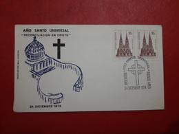 L'Argentine Enveloppe Une Année Sainte Universelle 1974 - Cristianismo