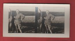 Vue Stéréoscopique Aviateur Jean Navarre - 1914-18