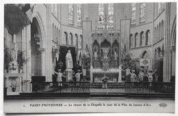 2.PASSY-FROYENNES --- Le Choeur De La Chapelle Le Jour De La Fête De Jeanne D'Arc - Tournai