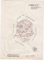 PORTUGAL OLD MAP - ALFANDEGA DA FÉ    - 24,2 Cm X 17,4 Cm - Cartes Topographiques
