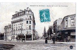 7 - NOGENT-SUR-MARNE - Sortie De La Gare De Vincennes - Nogent Sur Marne