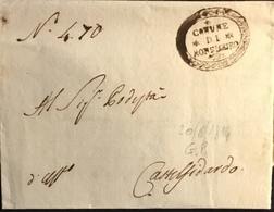 1814 MONTESICURO G. PROVV. PER CASTELFIDARDO - Italy