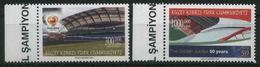 2004 Cipro Del Nord, Europei Di Calcio  Portogallo, Serie Completa Nuova (**) - Nuovi