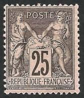 FRANCE--SAGE-- MH --BLACK / RED--1886-- - 1876-1898 Sage (Type II)